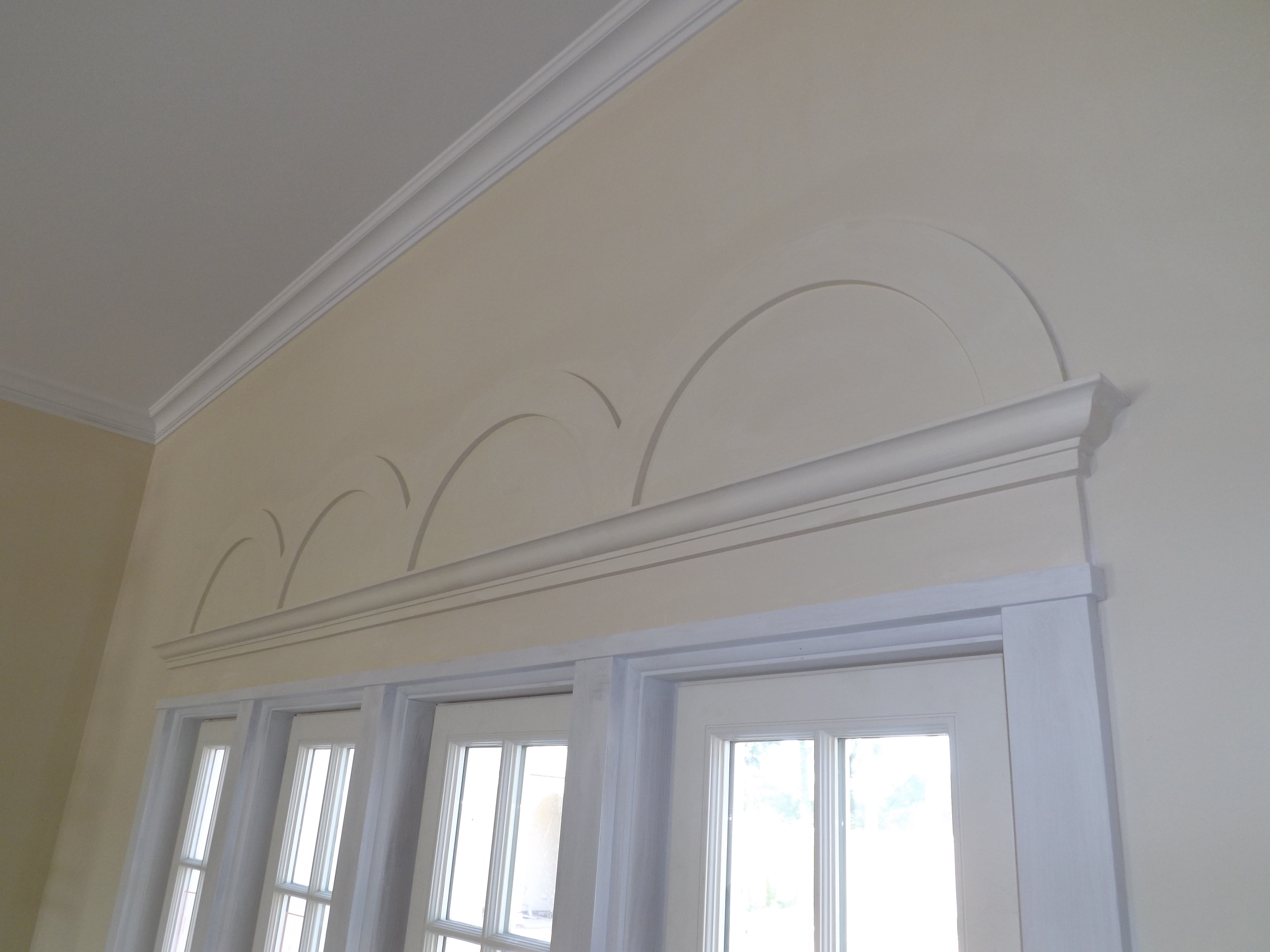 Good Smooth Textured Interior Plaster ,with Plaster Decorative Cast Arches